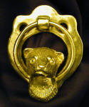 Ferret Head Brass Door Knocker