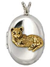 Sterling Silver and Gold Ferret Locket